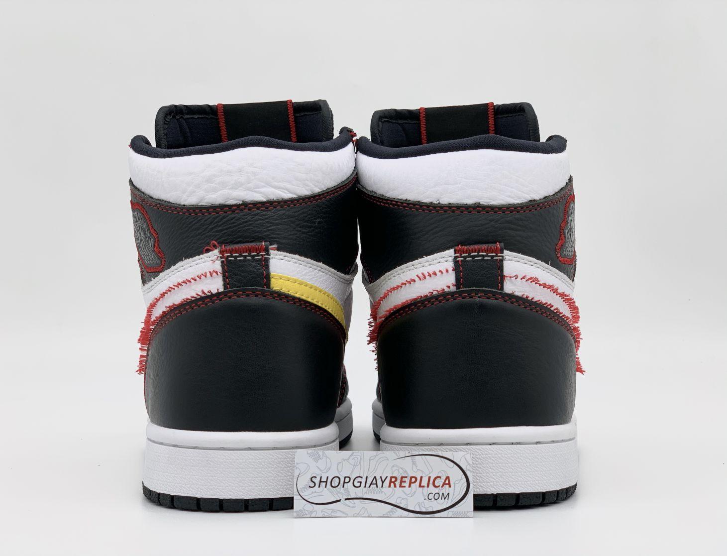 Nike Air Jordan 1 Retro High Defiant White Black Gym Red