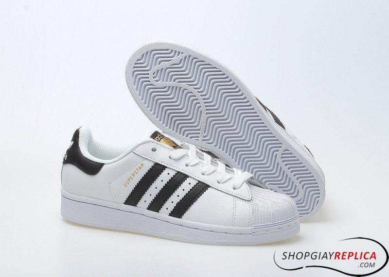 Giày Adidas Superstar trắng sọc đen Rep 1:1