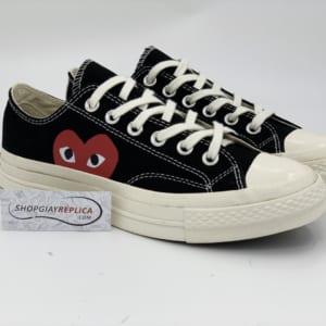 Giày Converse CDG đen cổ thấp replica