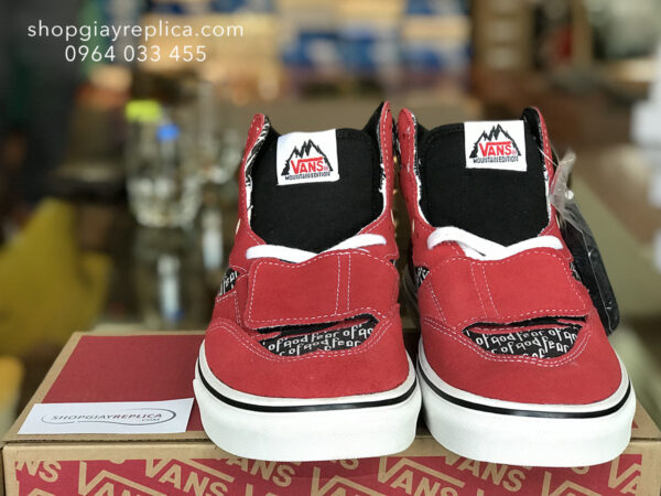 giày Vans Mountain Fear Of God red replica