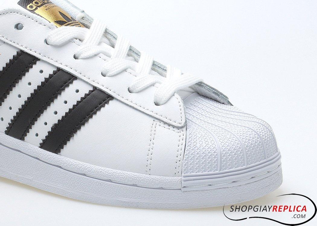 Adidas Superstar trắng sọc đen