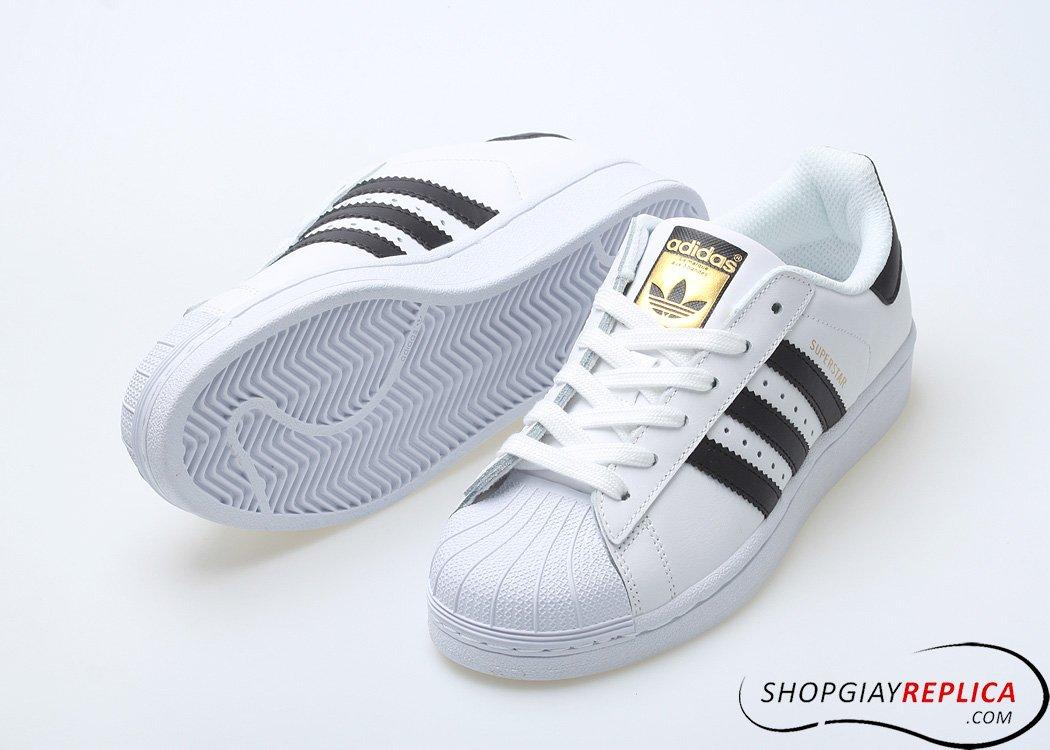 Adidas Superstar Sò trắng sọc đen Rep 1:1