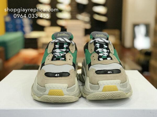 giày balenciaga triple s vang xanh replica