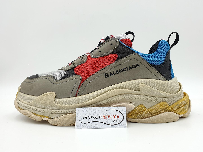 Giày Balenciaga Triple S xanh đỏ replica 1:1