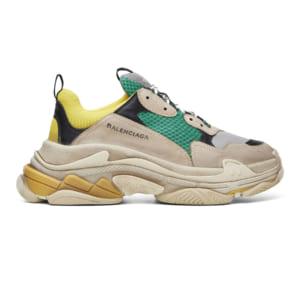 Giày Balenciaga Triple S xanh vàng