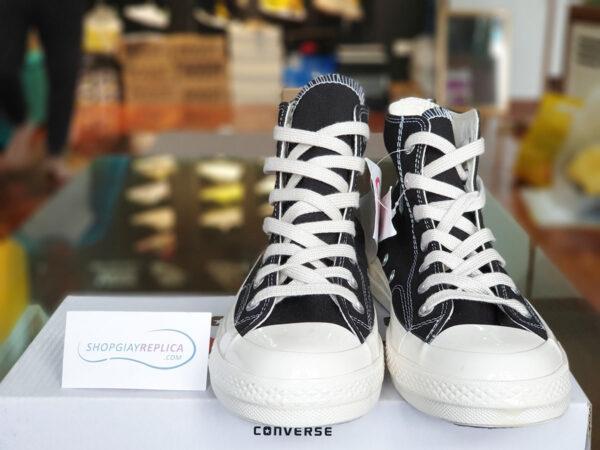 giày converse cdg den co cao replica