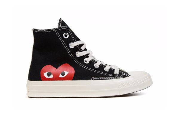 giày converse tim cao den replica