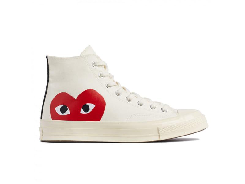 giày converse tim trang cao replica