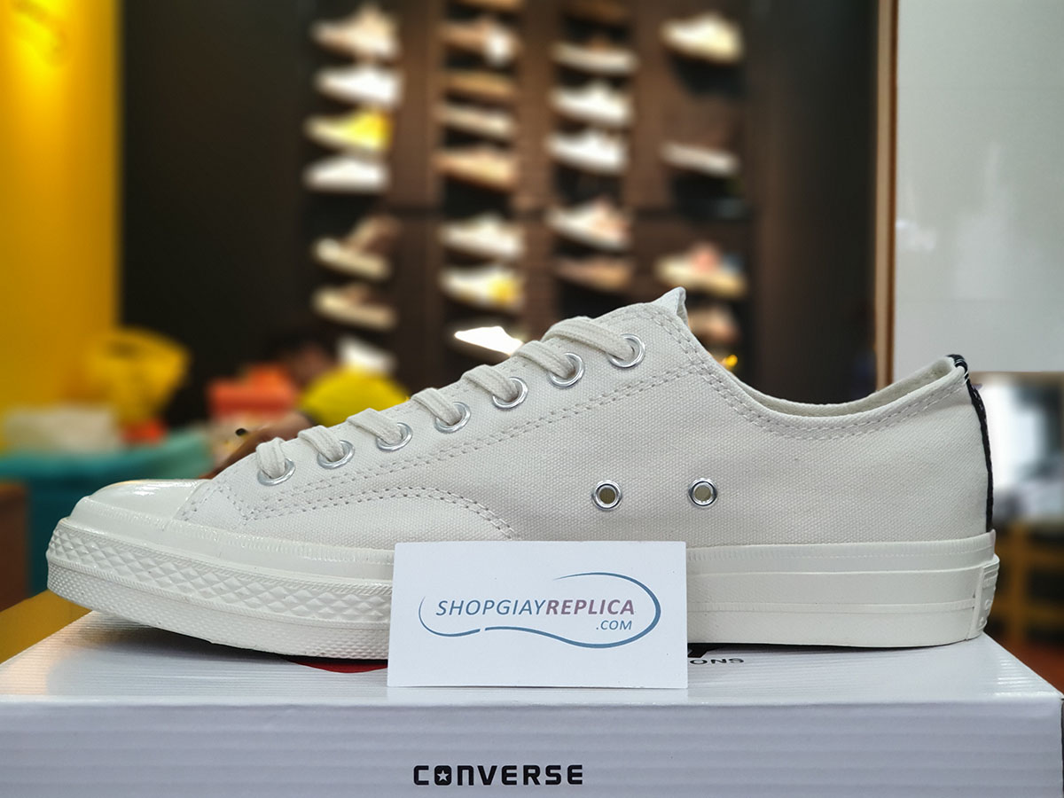 giày converse play white low replica
