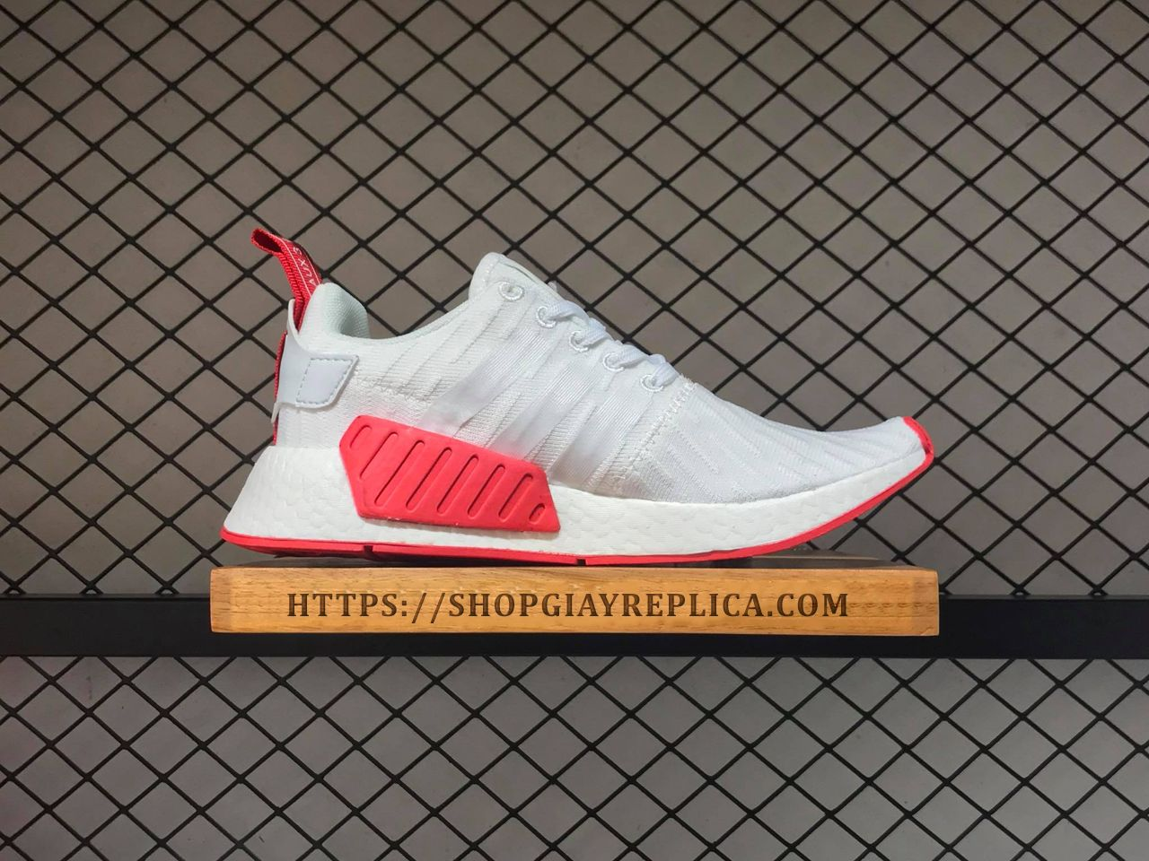 f255858c703e8 Giày Adidas NMD R2 Core White Red replica 1 1 - Shop giày Replica™
