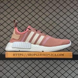 Giày Adidas NMD R1 hồng sọc trắng