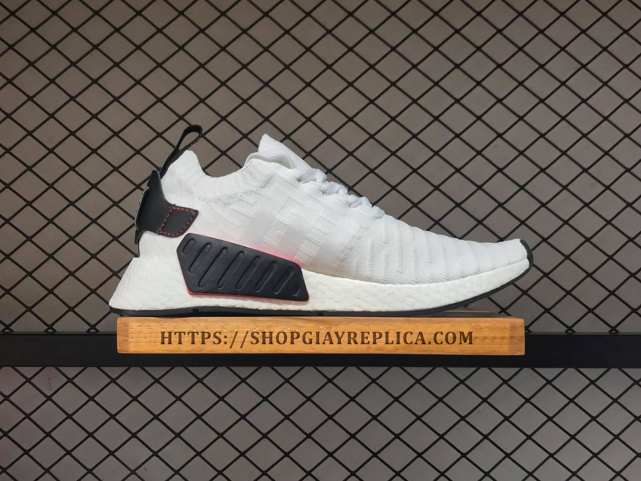 72454ae2dbb4d Giày Adidas NMD R2 Core White Black replica 1 1 - Shop giày Replica™