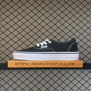 giay vans authentic den
