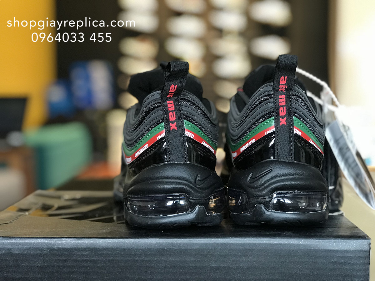 giày nike air max 97 undefeated black replica
