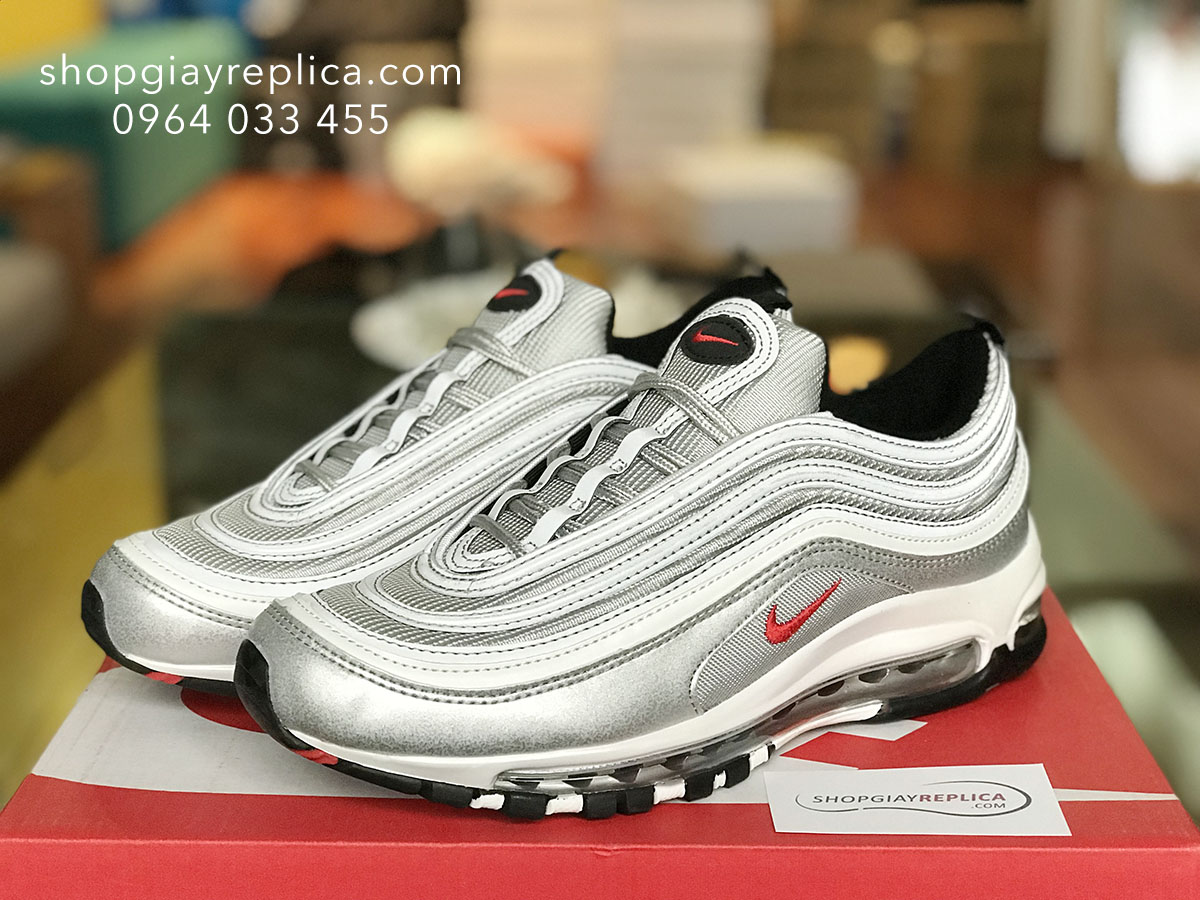 giày nike air max 97 xam replica