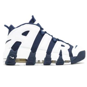 giày nike air uptempo xanh trắng replica