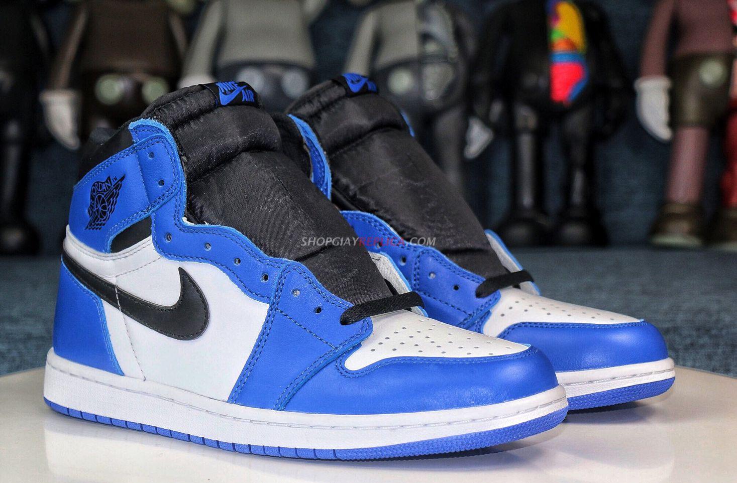 giày air jordan 1 xanh
