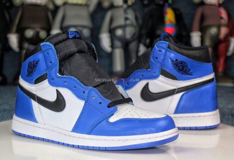 giày jordan 1 xanh cổ cao