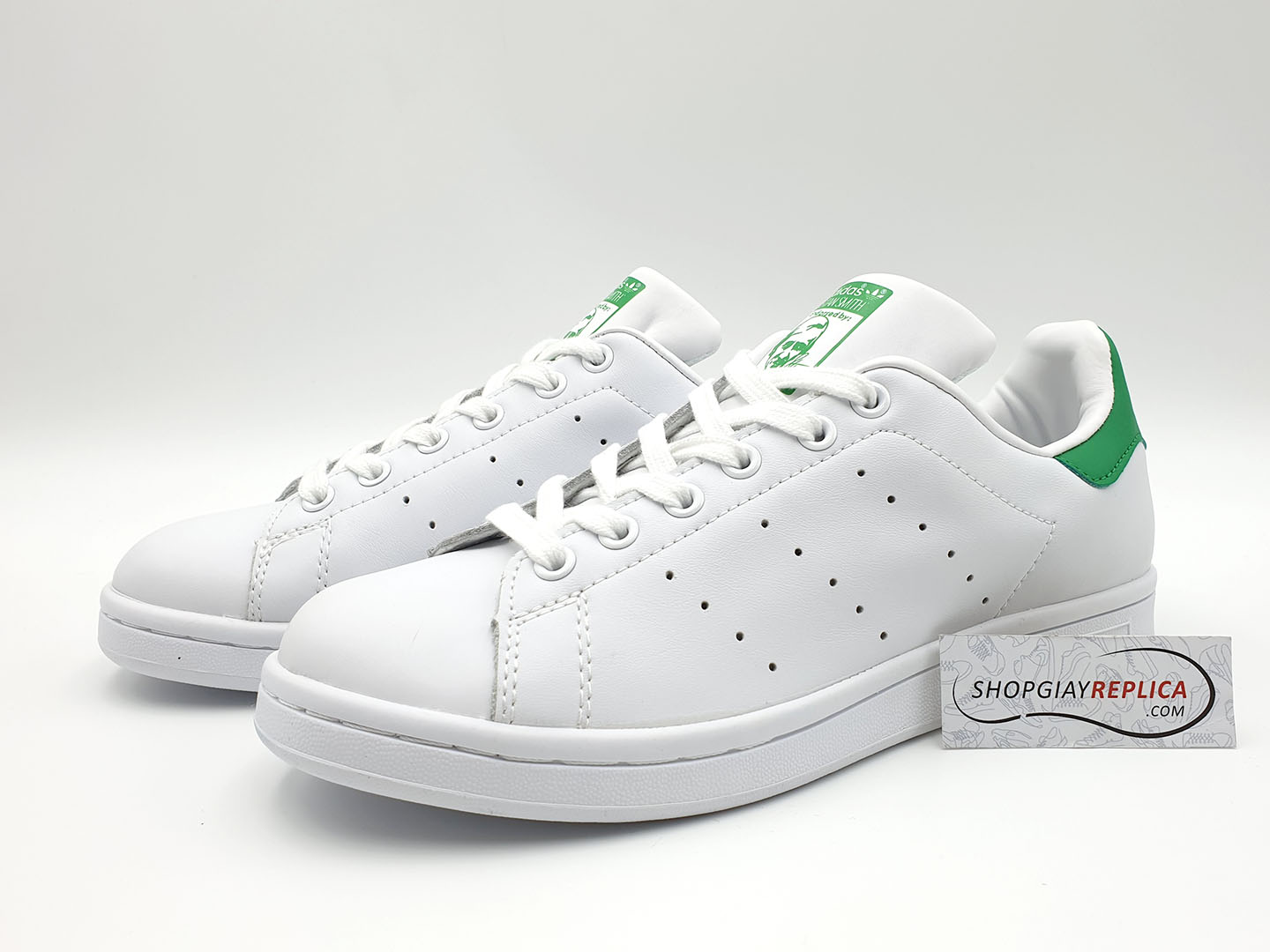 giày adidas stan smith xanh la replica