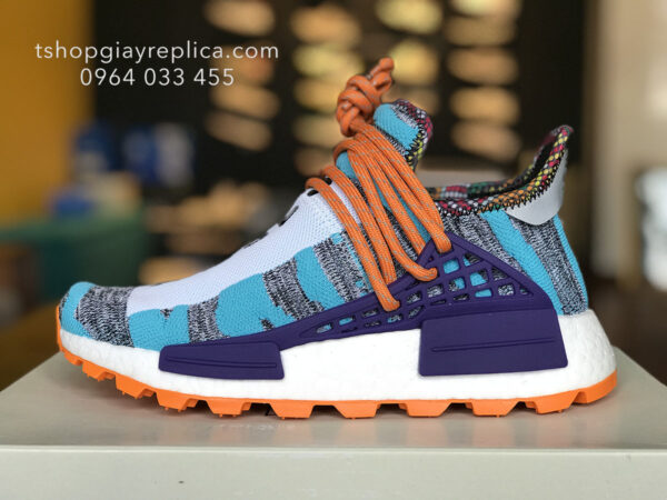 giày Pharrell x adidas NMD Hu Solar aqua replica