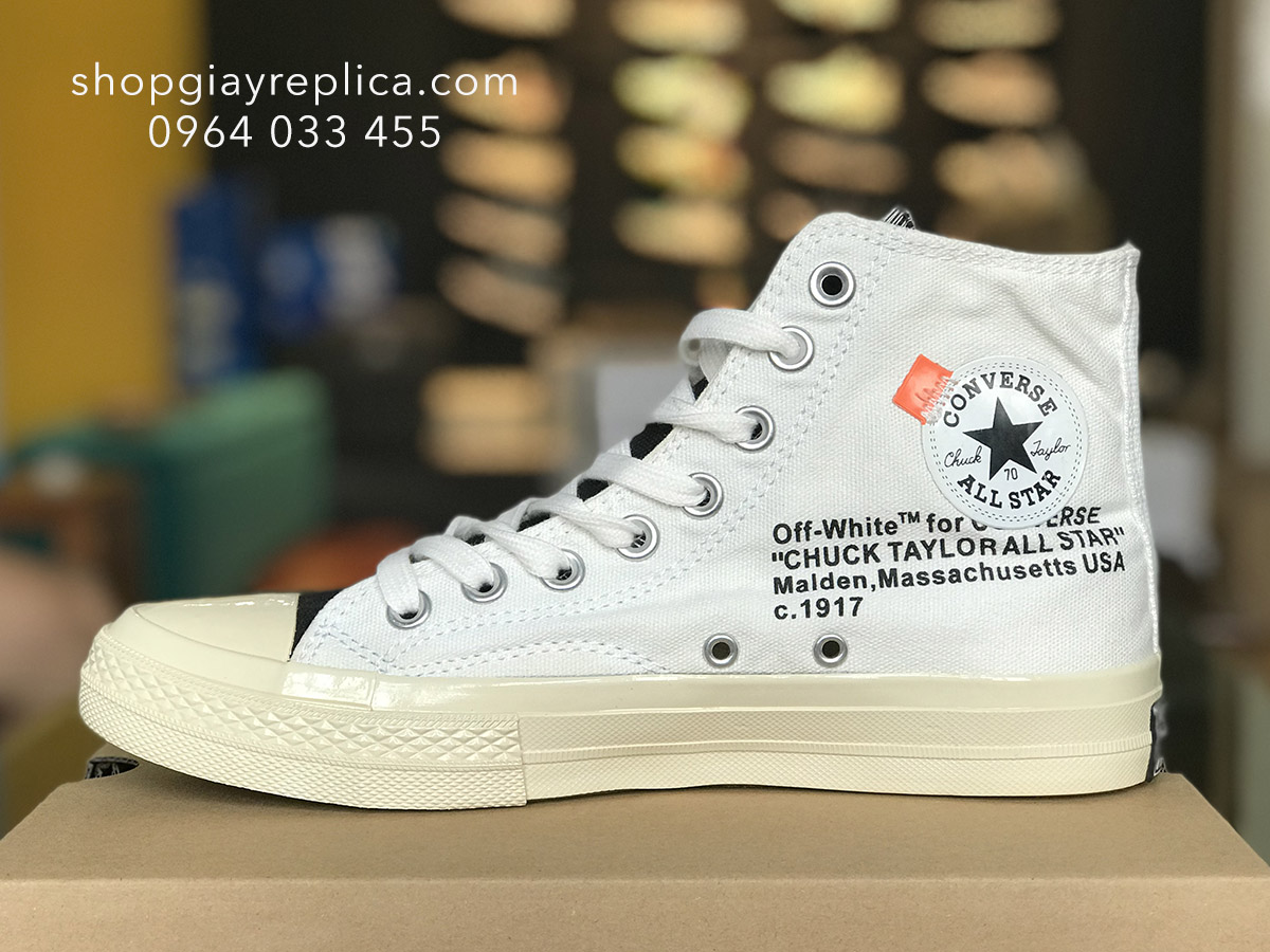 giày converse 1970s high off white replica