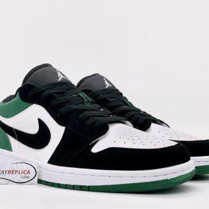 Air Jordan 1 Low White Black Mystic Green Rep 1:1