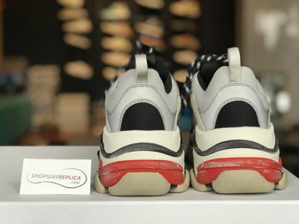 giày balenciaga triple s red silver (đỏ bạc) replica