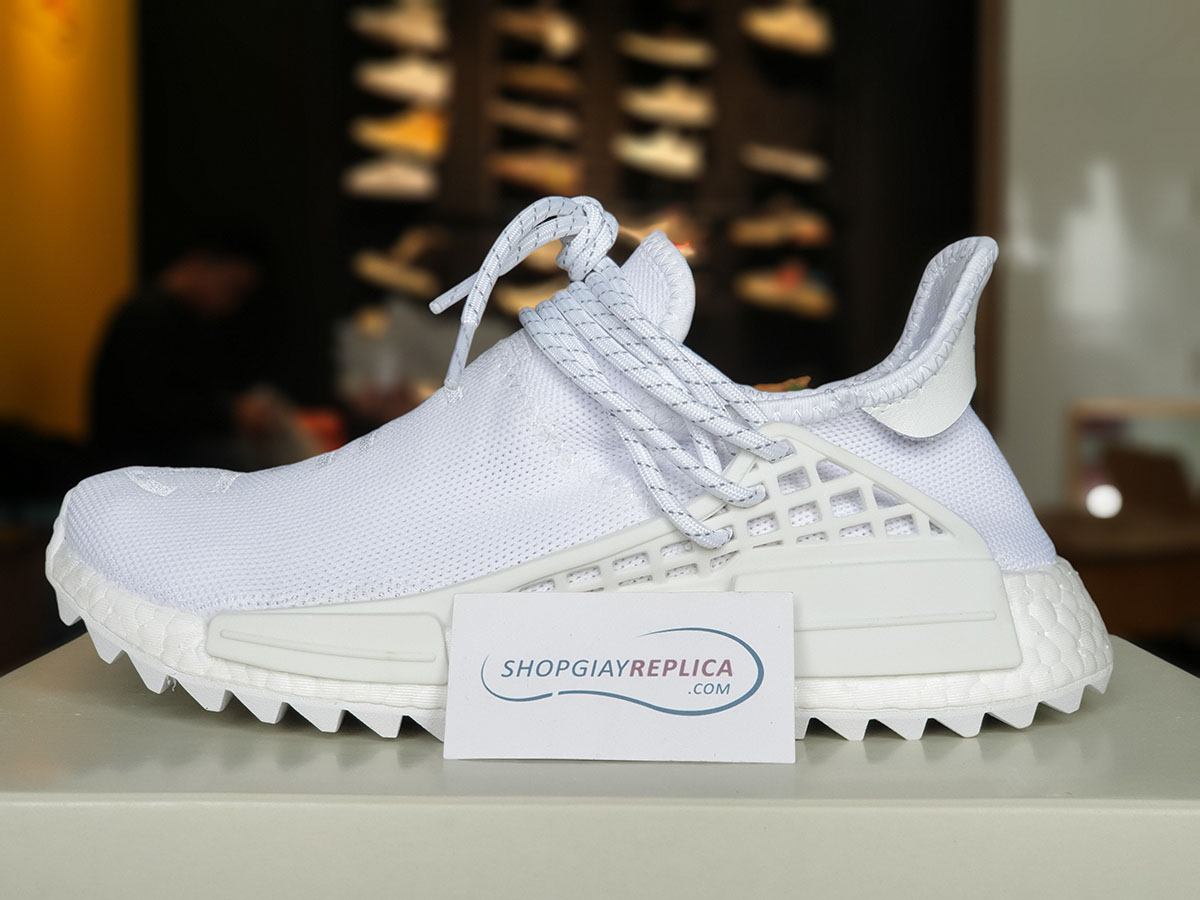 giày adidas nmd human race cream white replica