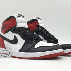 giày nike air jordan 1 black toe replica