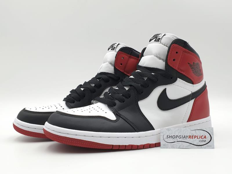 giày nike air jordan 1 black toe replica