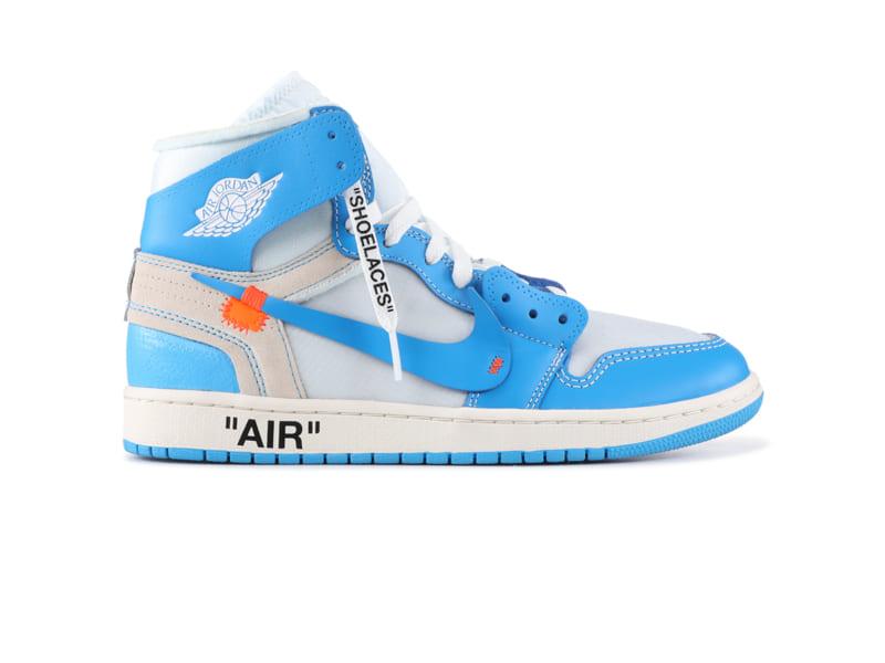 giày nike air jordan 1 off white blue replica