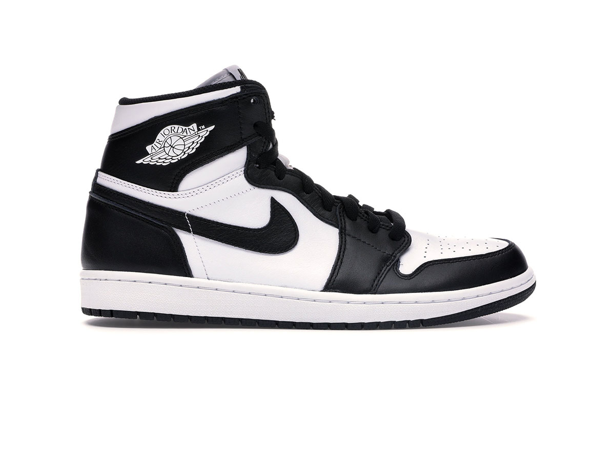 giay nike air jordan 1 retro black white replica