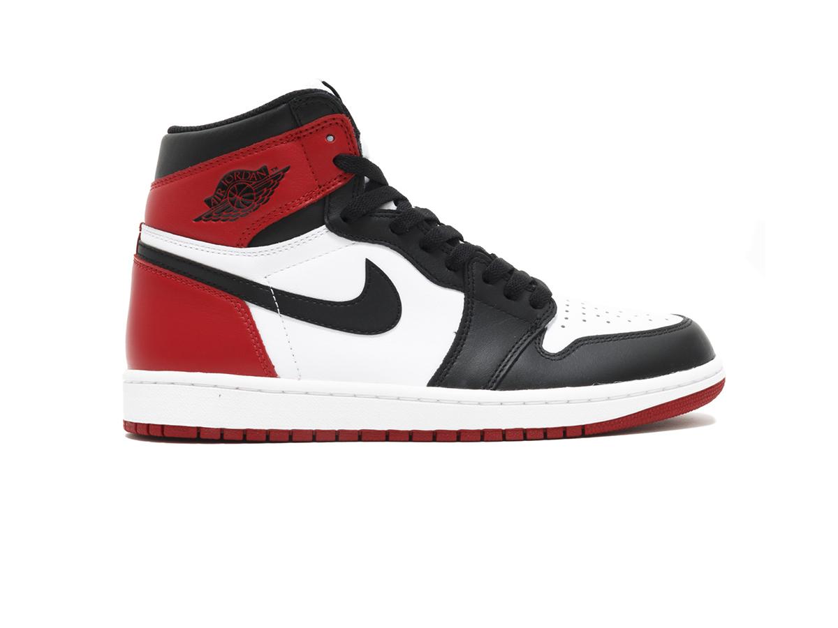 giày nike air jordan 1 retro high og black toe replica