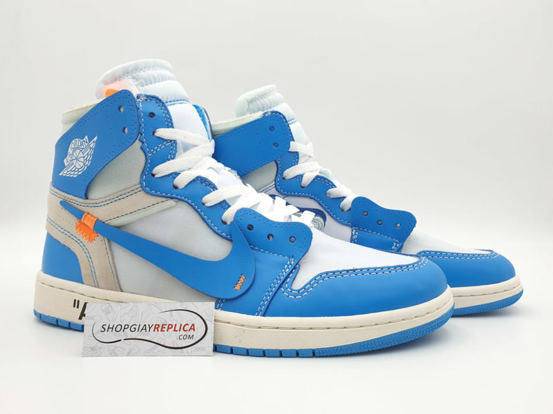 giay nike jordan 1 off white blue replica
