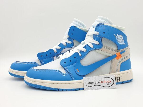 giay nike jordan 1 off white blue replica