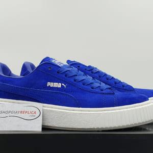 giày puma suede xanh de trang replica