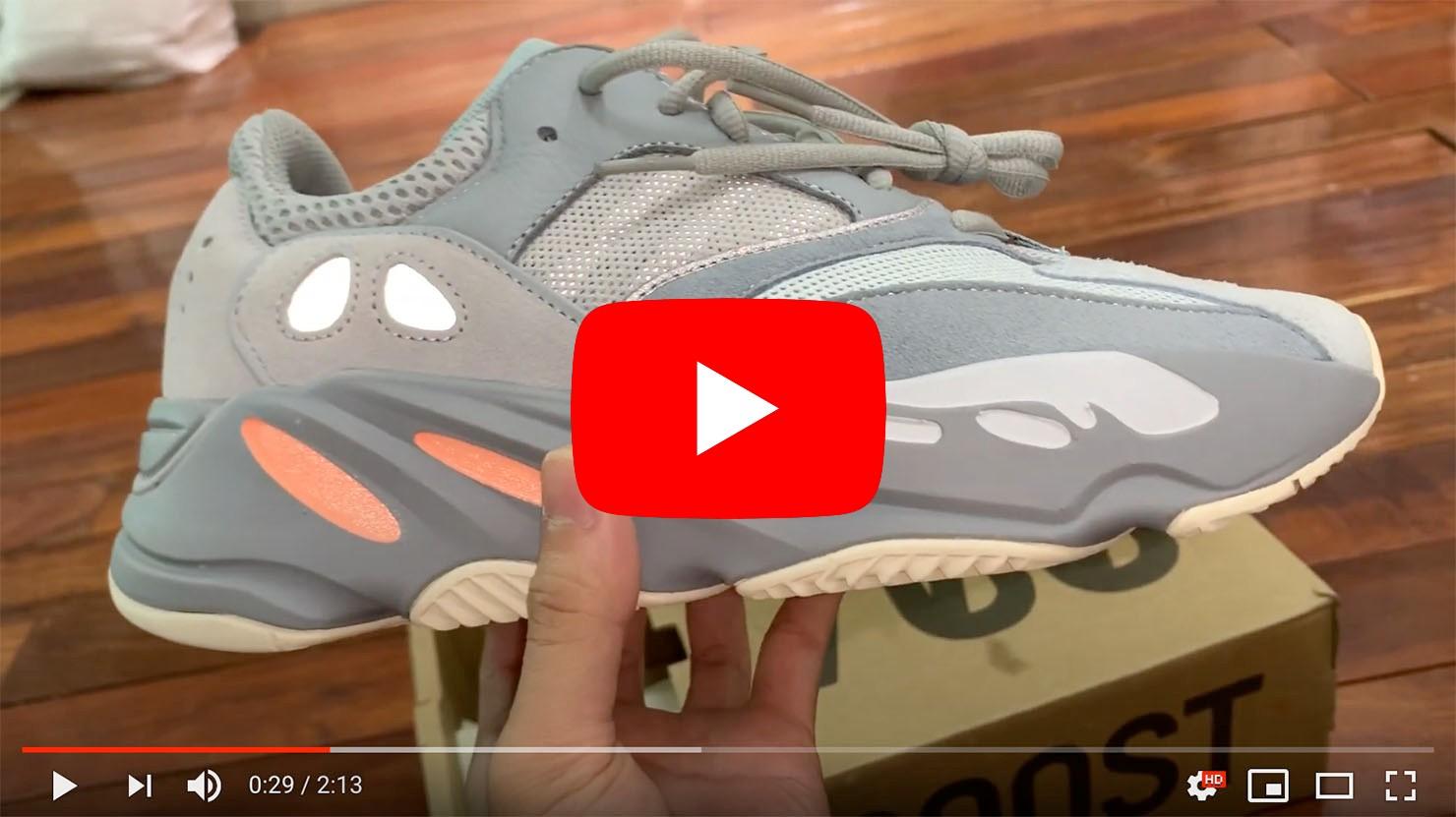 unbox giày yeezy inertia 700 rep