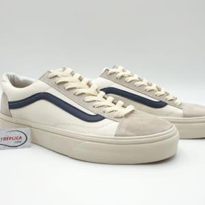 giày vans old skool trang soc xanh replica