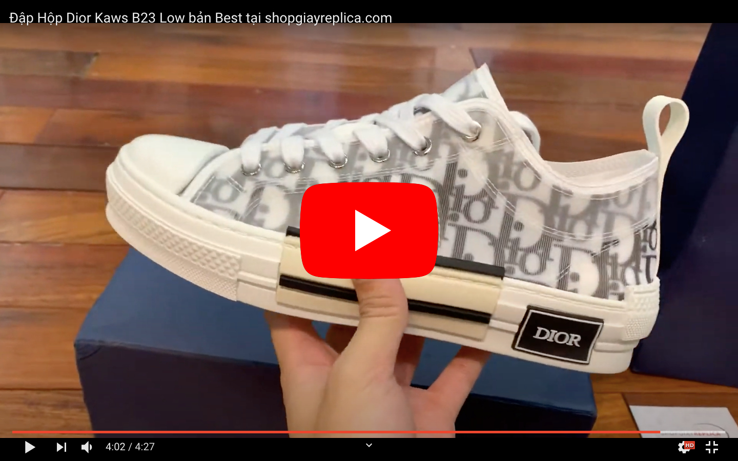 Video Unbox Dior B23 Low Top like auth