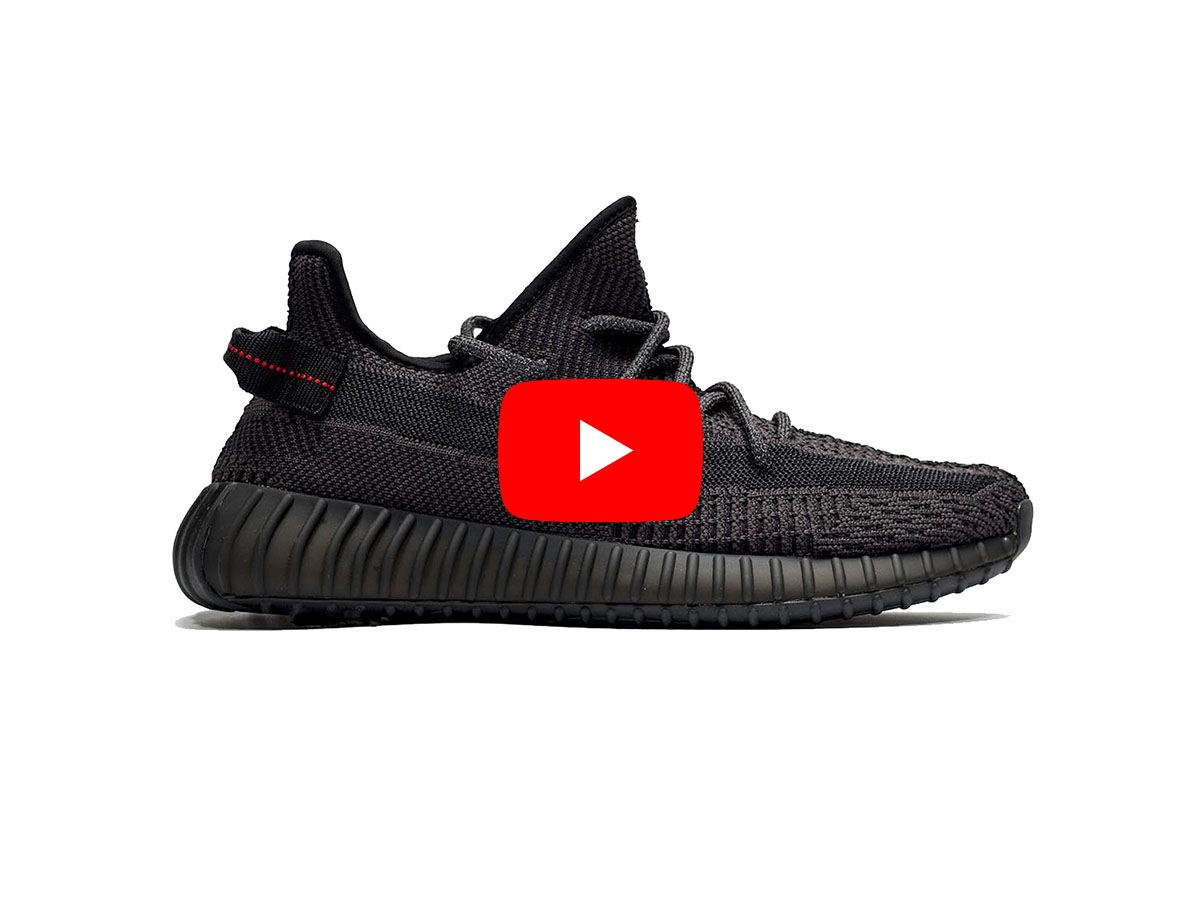 Giày Yeezy 350 V2 static đen replica