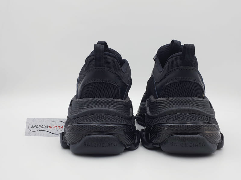 giày balenciaga triple s clear sole black replica