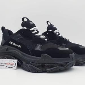 giày balenciaga triple s clear sole black replica