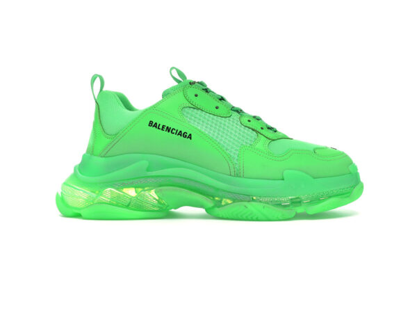 giày balenciaga triple s clear sole green replica