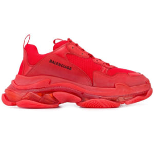 giày balenciaga triple s clear sole red replica