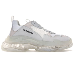 giày balenciaga triple s clear sole white replica