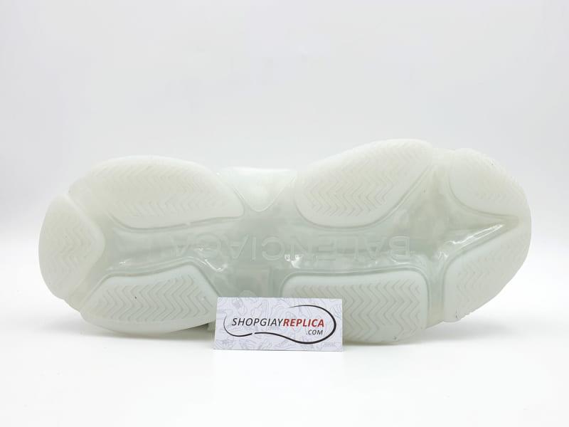 giày balenciaga triple s clear sole white replica