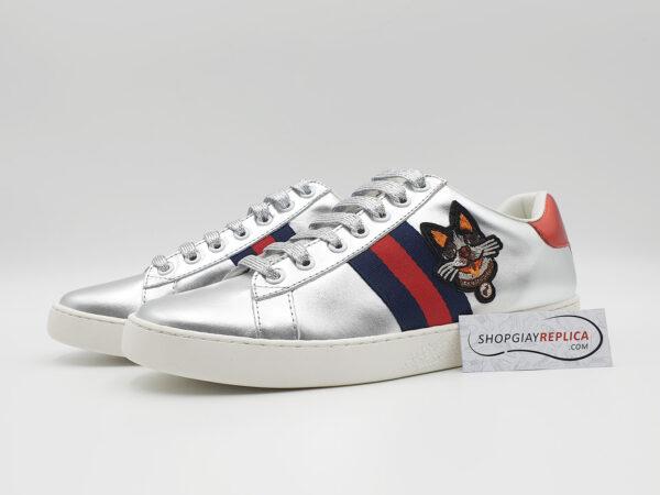 giày gucci dog silver siêu cấp