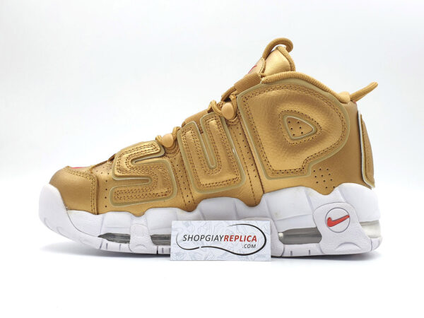 giày nike uptempo supreme gold replica