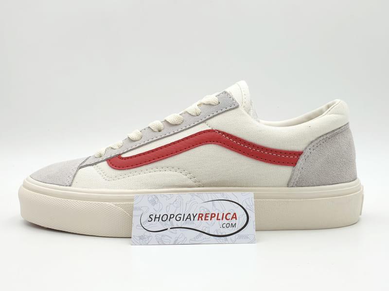 giày vans old skool trang soc do replica