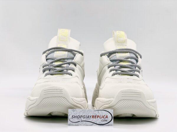 Giày MLB NY trắng chữ vàng replica